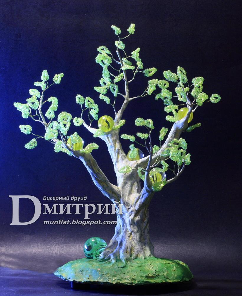волшебное дерево, древо мага, магическое, бисерное, шедевр, ручная работа, ночник, ночной светильник