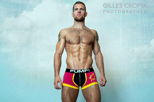 Sexy model Adam Coussis by photographer Gilles Crofta