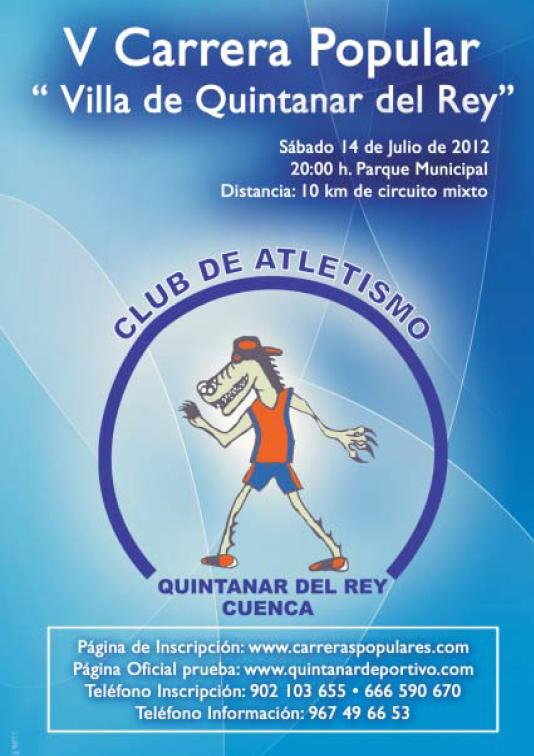 Circuito Quintanar Del Rey : Sport limits v carrera popular villa de quintanar del rey