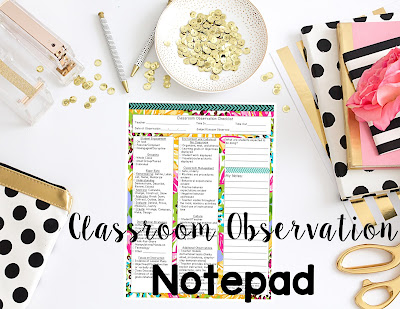 https://www.teacherspayteachers.com/Product/Classroom-Observation-Checklist-Notepad-85x11-1964877
