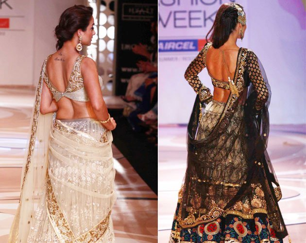 mallika & amrita arora in lakme fashion week hot images