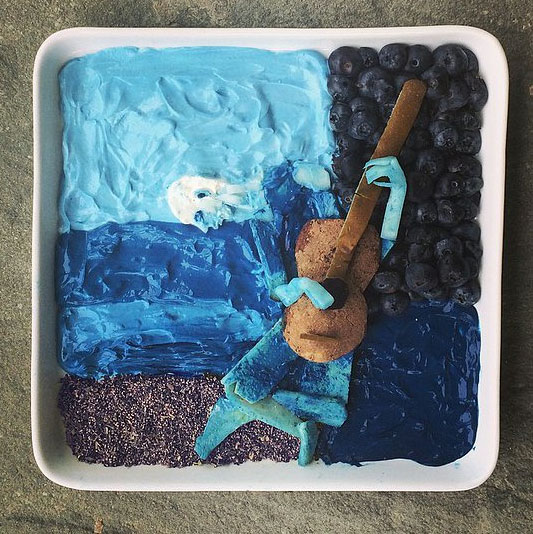 Food Art Harley Langberg Picasso The Old Guitarist