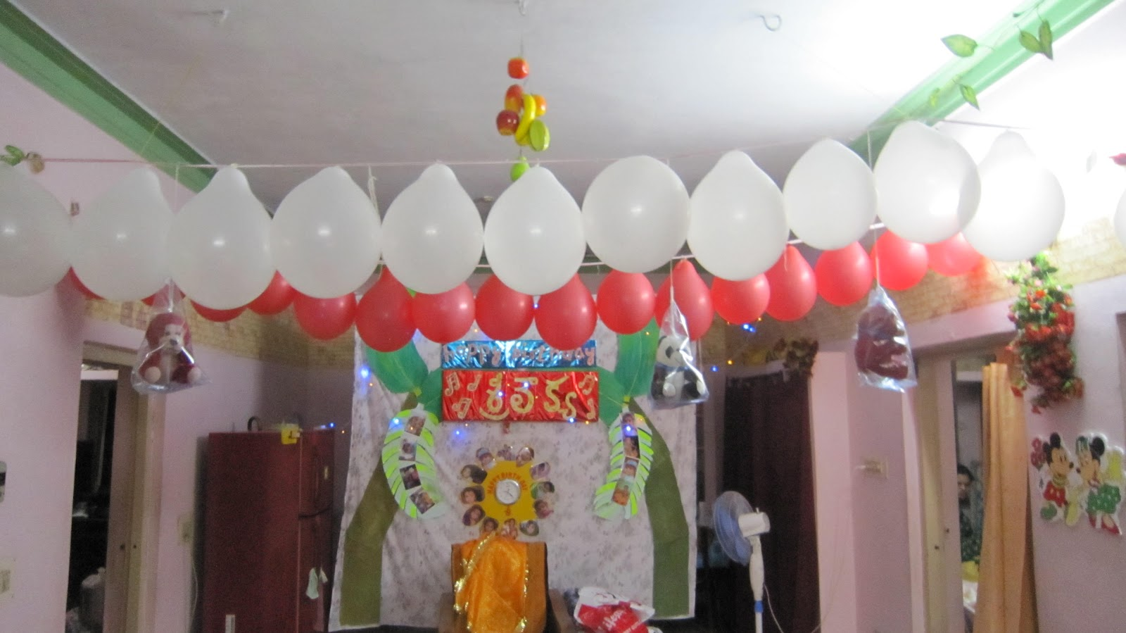 Make your own home made crafts: Happy Birthday decoration for 1 year ...