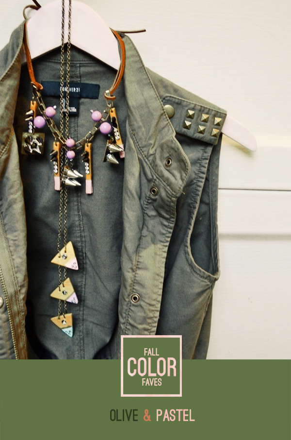 trending: olive and pastel color combination