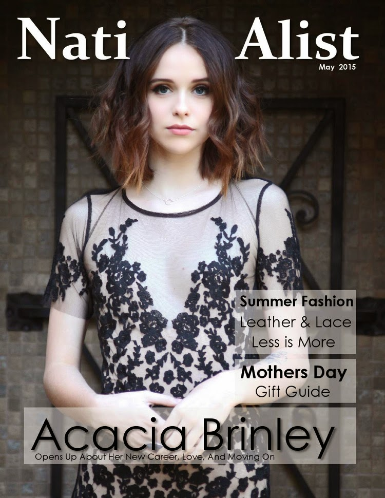 Model @ Acacia Brinley - NationAlist Magazine, May 2015