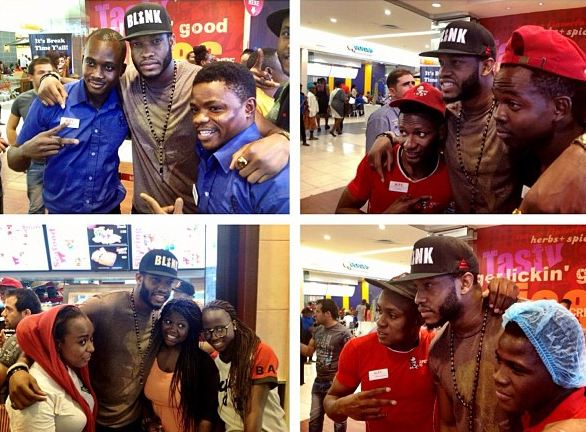 Lynxxx Spotted Taking Shots With KFC Staff and Fans