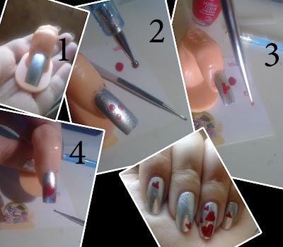 tutorial nail art san valentino