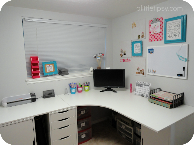 Craft Room Reveal A Little Tipsy
