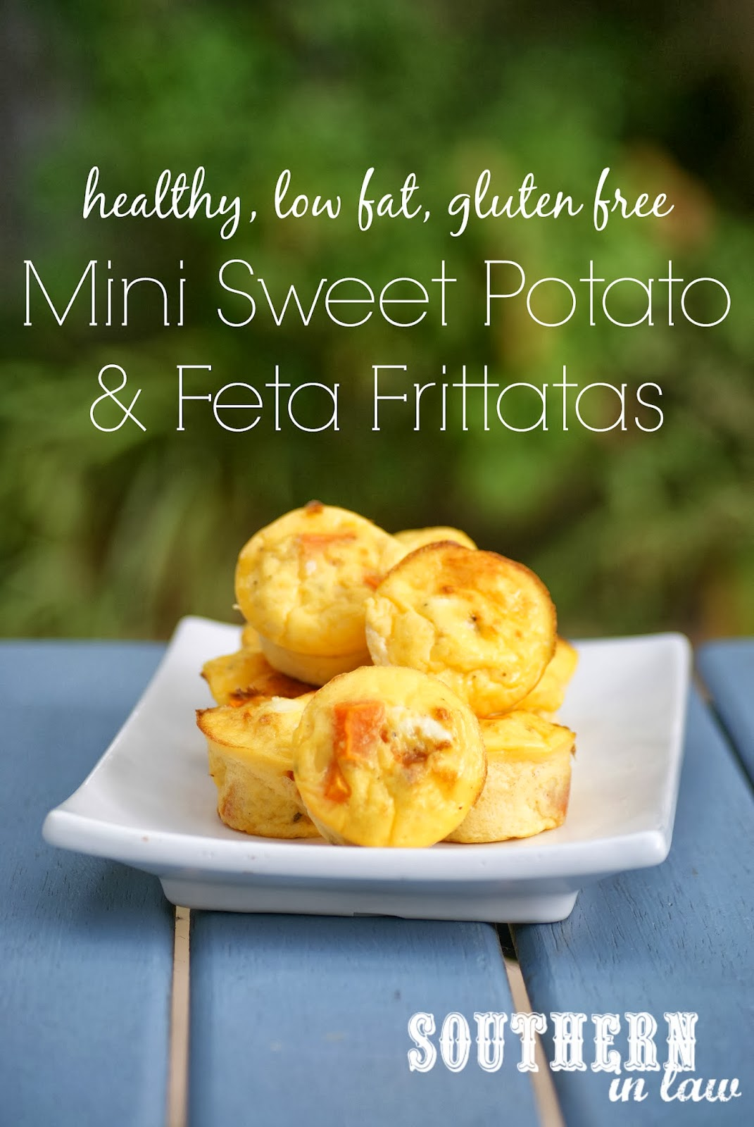 Low Fat Sweet Potato and Feta Frittatas Recipe - healthy, gluten free, low carb, paleo, clean eating friendly
