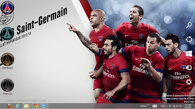 Paris Saint Germain 2013 Theme For Windows 7