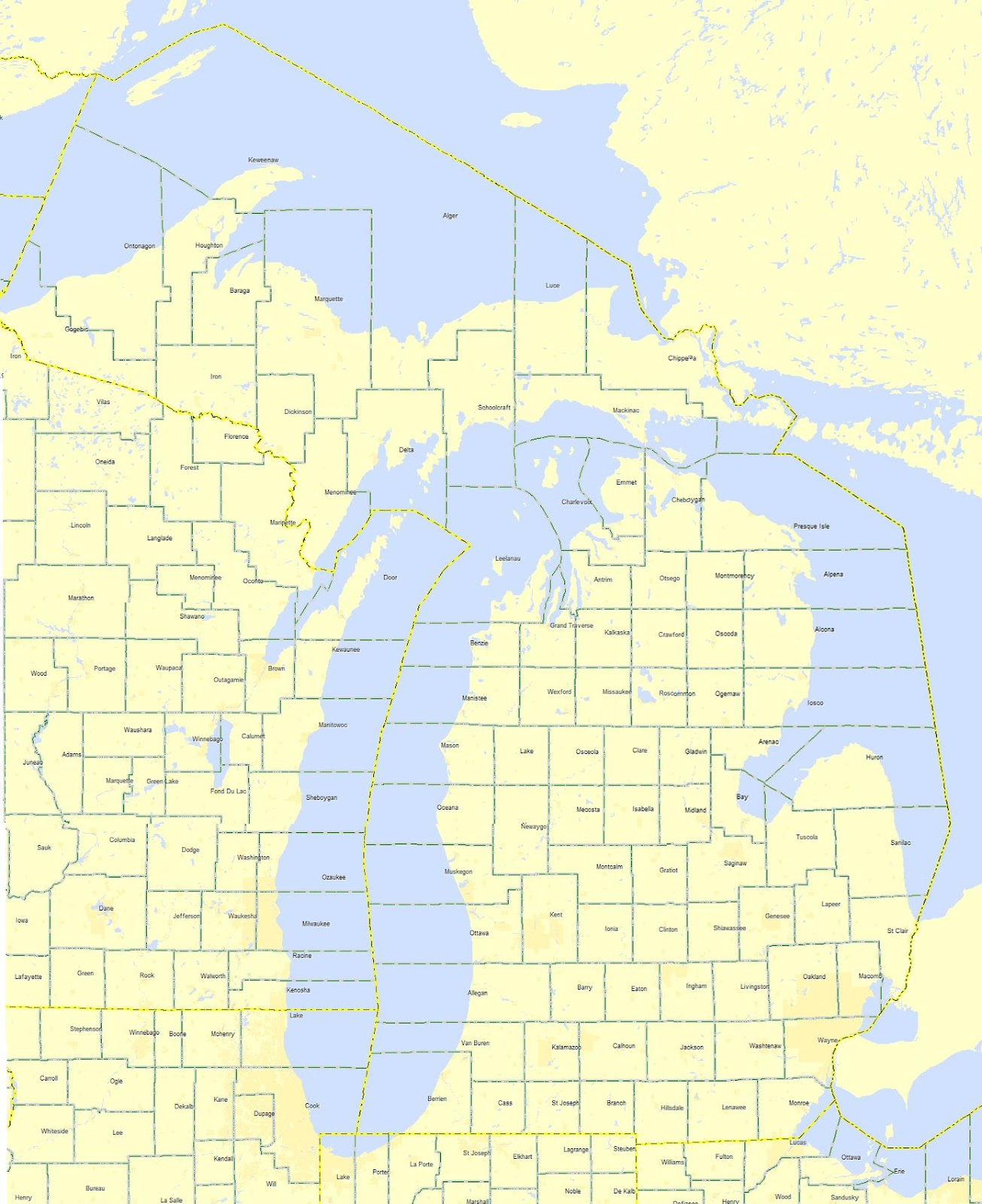Online Maps Michigan County Map