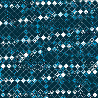 Muster in Blau und Weiß 2