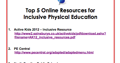 ... Class: Top 5 Online Resources for Inclusive Physical Education