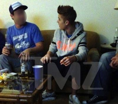 Justin Bieber Smoking
