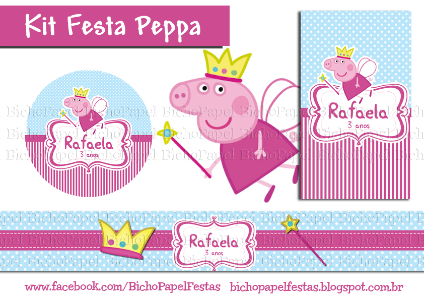 Kit Festa Peppa Pig Fada