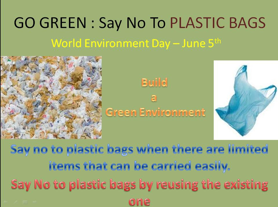 say no to plastic essays
