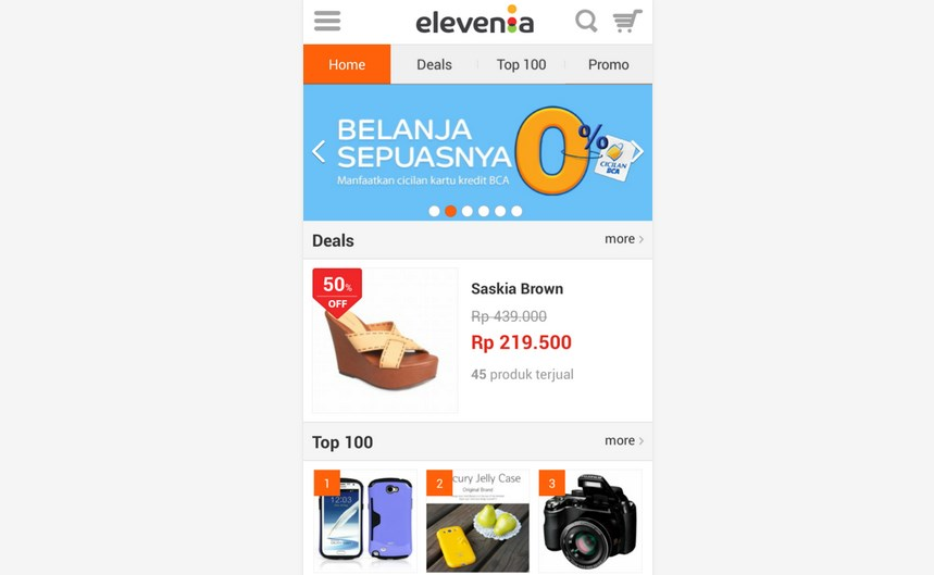 Cara Belanja Online di Android Elevenia