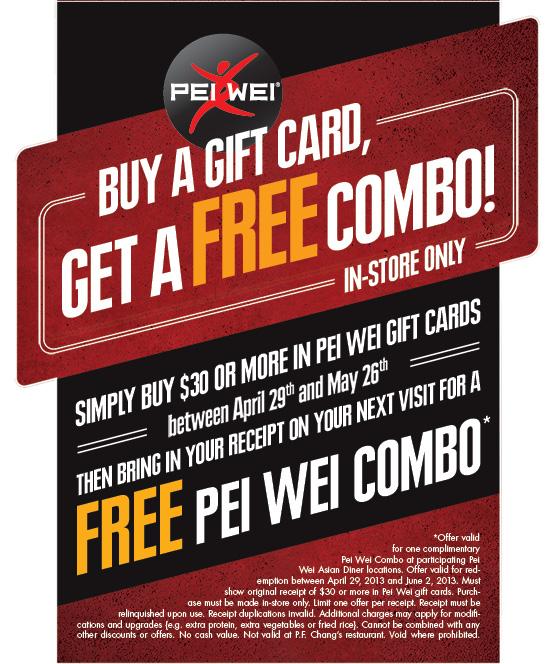 Pei wei coupons 2019