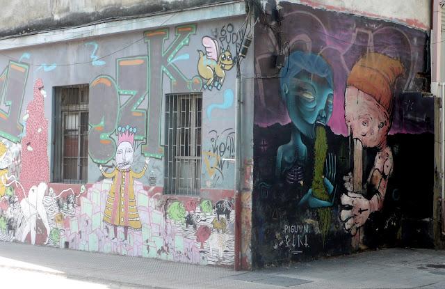 street art santiago de chile barrio yungay brasil graffiti arte callejero piguan piri