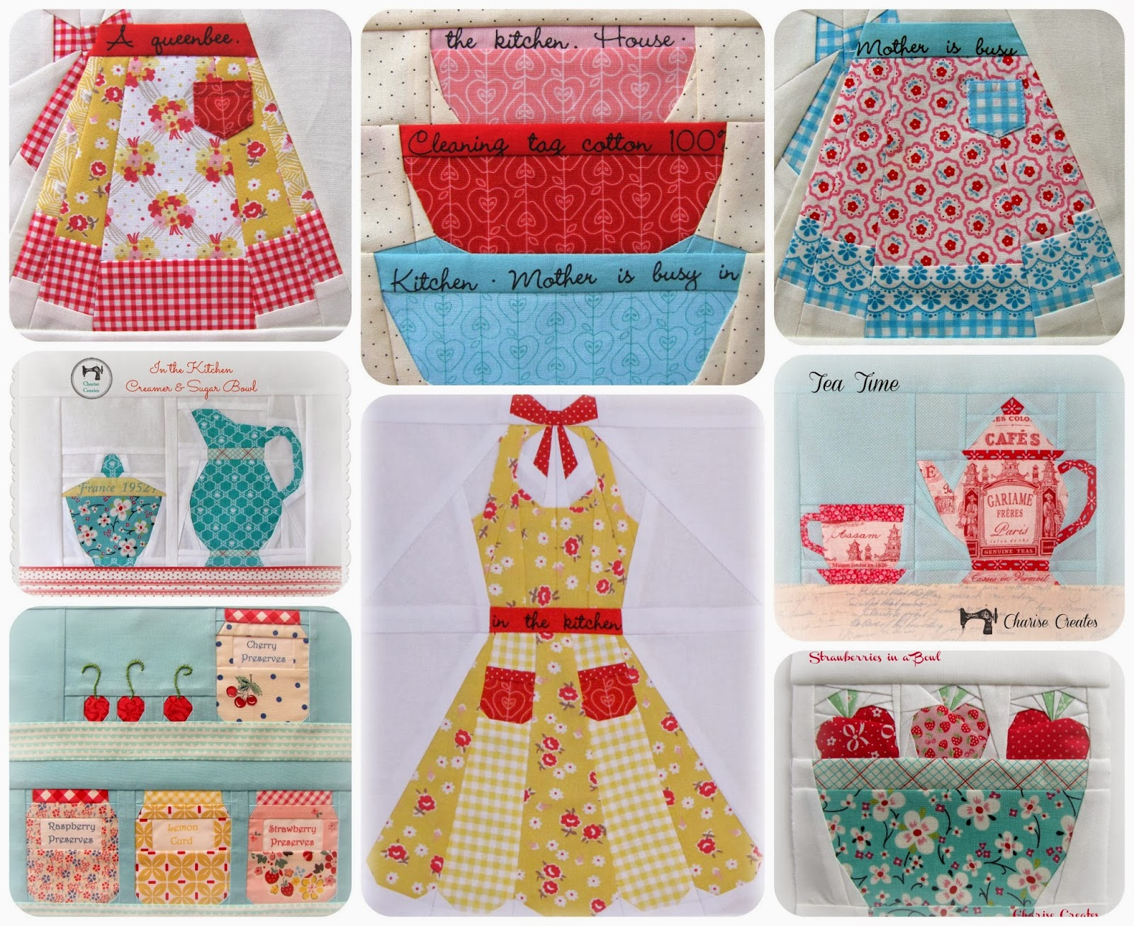 Charise creates in the kitchen grandmother 39 s apron for Kitchen quilting ideas