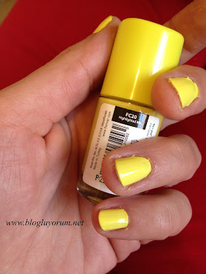 flormar fc20 üç kat sarı oje