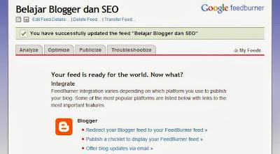 Cara Membuat dan Mendaftarkan Blog ke RSS Feedburner