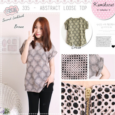 Endeline Abstract Loose Blouse, harga 95 rb, kode 335