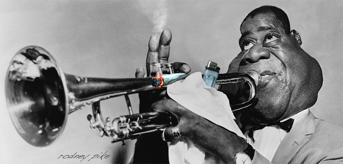 Louis Armstrong caricature study