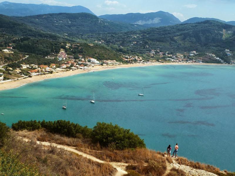 Blick von Afionas auf die Bucht Agios Georgios (Korfu)