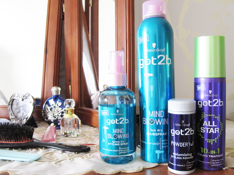 Schwarzkopf got2b Mind Blowing Xpress Dry Styling Spray, Fast Dry Hairspray, Powder'ful Volumizing Powder & All Star 10 in 1 Styling Treatment review