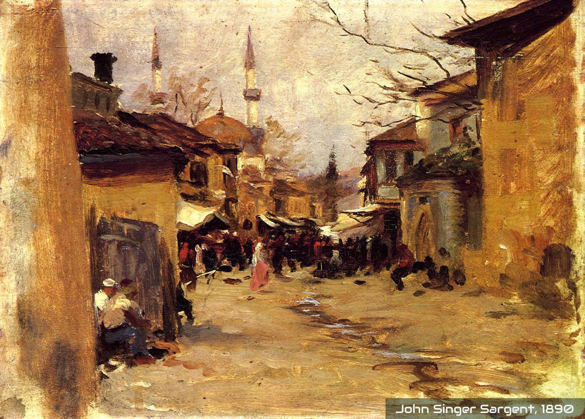 Lukisan Kampung Arab lama