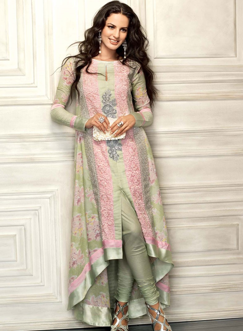 Elegant Yeah You Can Make The Anarkali Dress Design Into The Heavy Fabric With Some Stone Work Or Simply The Pakistani Traditional Work Like Dabka, Kora, Ribbon Work, Patch Work And All Discussing More About Pakistani Anarkali Suits