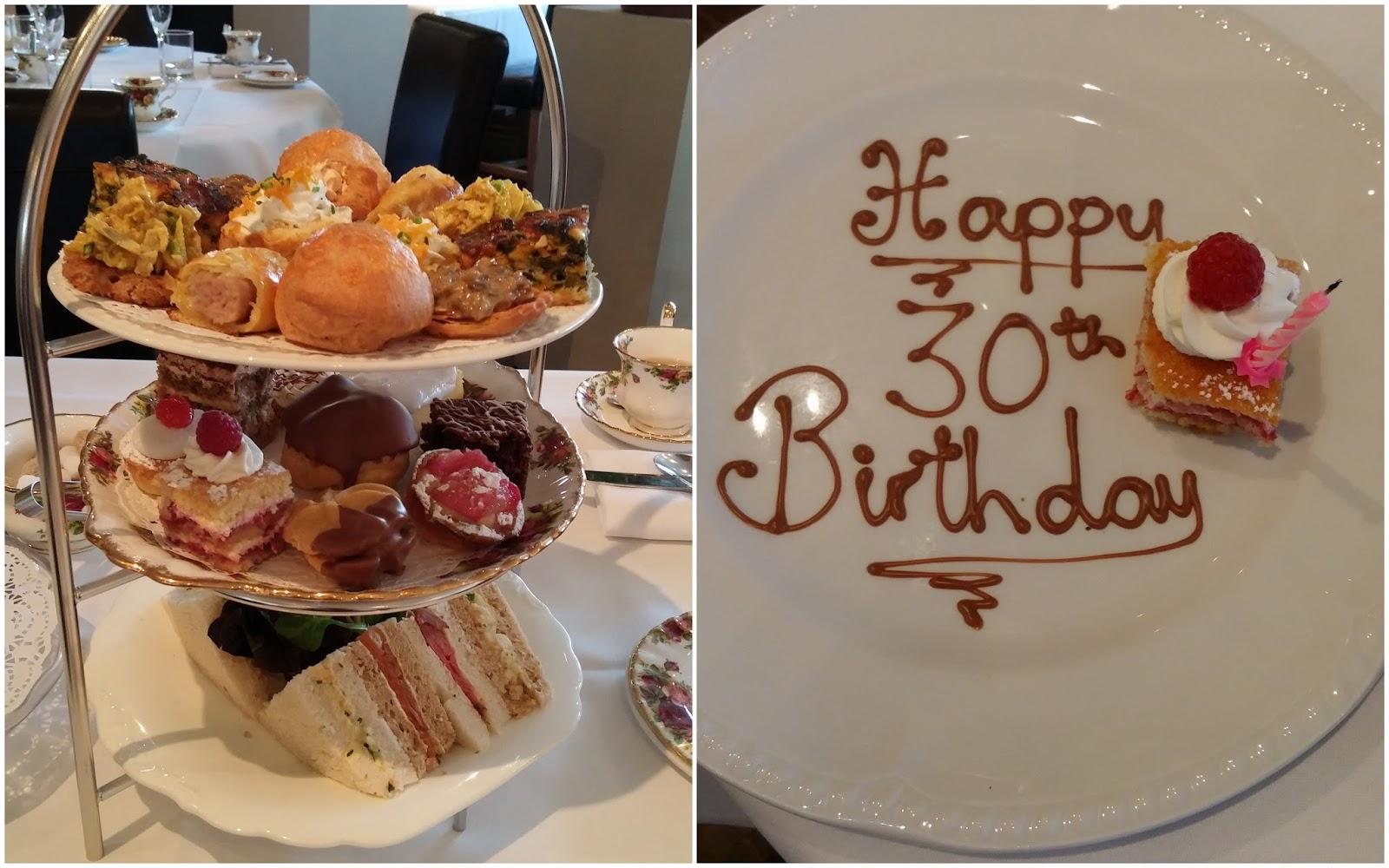 High Tea at the Angel Hotel Abergavenny 30th birthday celebrations