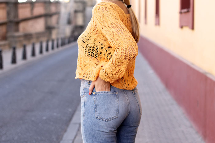 orange crochet