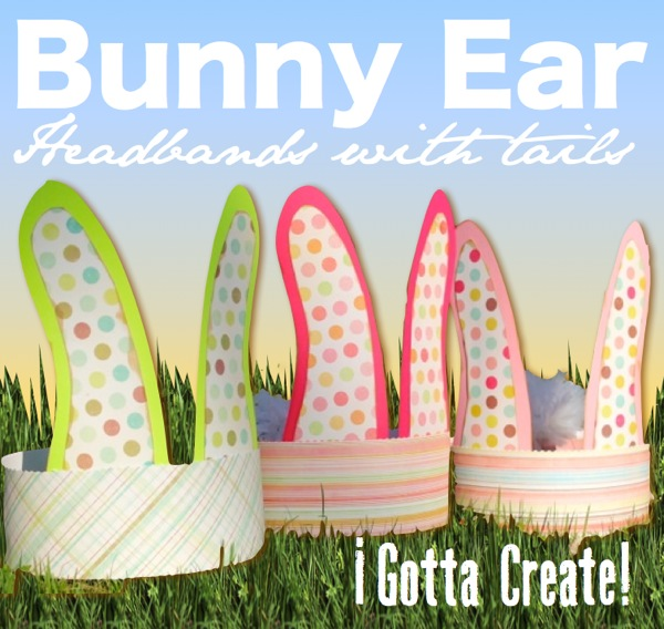 Bunny Crown! Tutorial for bunny ears headband with pom-pom tail at I Gotta Create!