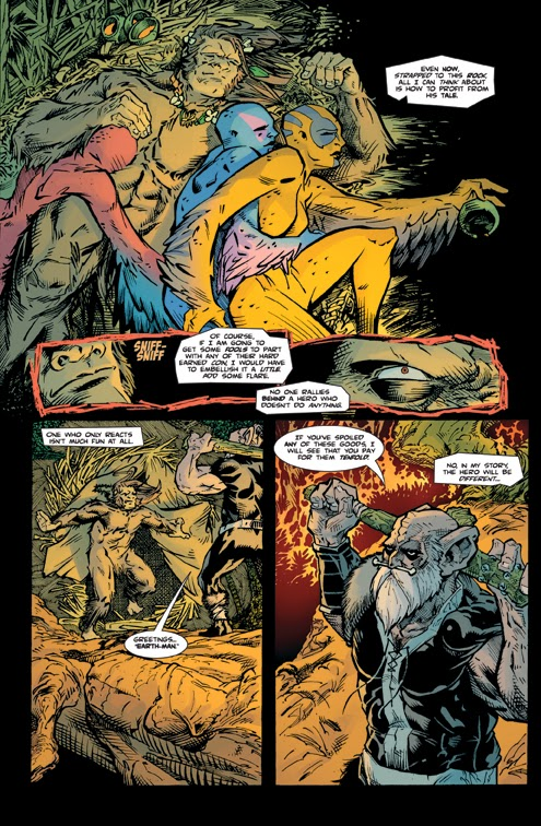 bigfoot sword of the earthman issue five issue 5 preview page two bigfoot comic book bigfoot graphic novel barbarian comic