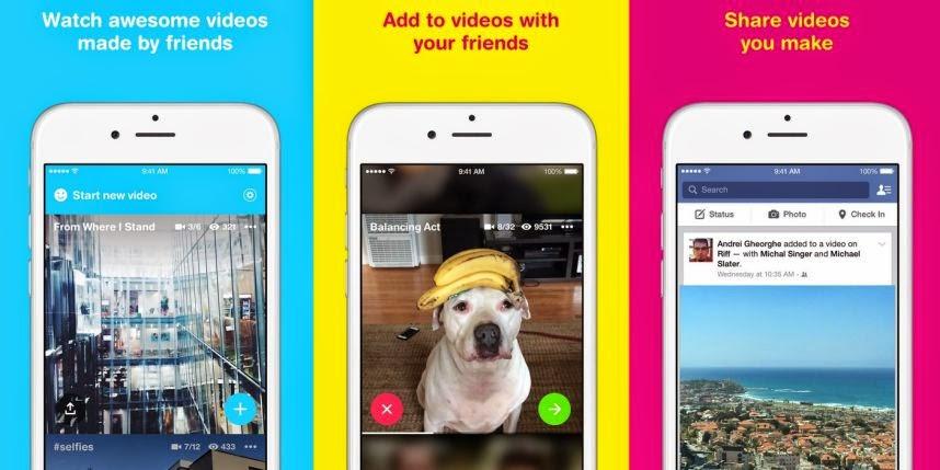 Riff: la nouvelle application vidéo de Facebook