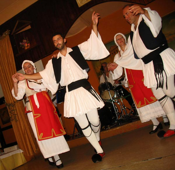 greek troupe dancing