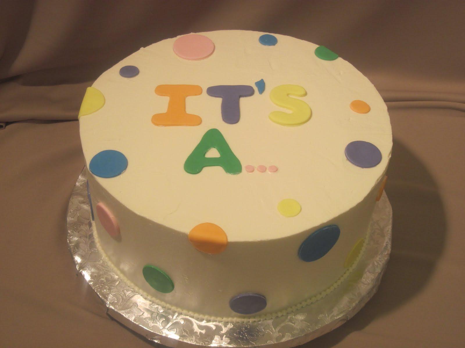 Storybook Bakery Blog: Baby Gender Reveal Cake -- UPDATE!