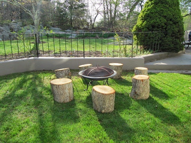 Fire Pit And Seating Part - 33: Stump Seating