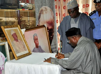 Jonathan Signing the condolence register