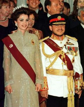 Queen Rania & King Abdullah II of Jordan