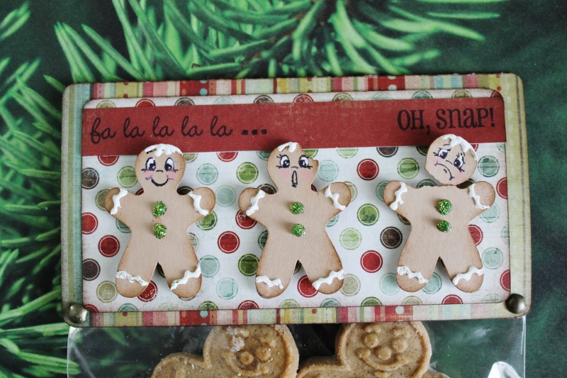 Got2bcrafting Oh Snap Gingerbread Treat Bag Topper