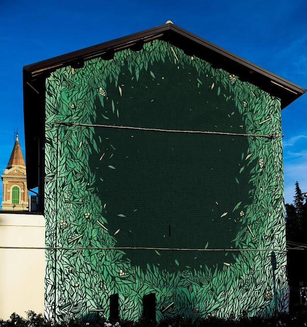 Street Art Mural By Tellas In Dozza For The Biennale del muro dipinto 2013.