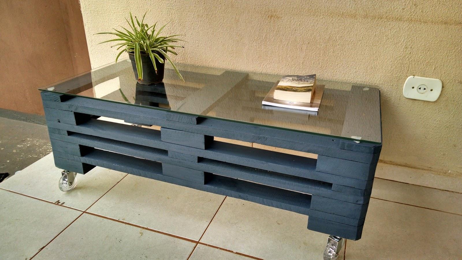 Casa Paletes Móveis Rústicos: Mesa / Rack de Paletes #6E4F2E 1600x901