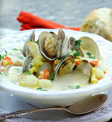 Clam, Halibut and Sweet Corn Chowder