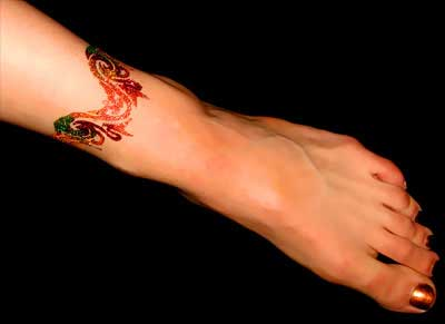 Mehndi Ankle Images : Anklets mehndi styles henna ankle tattoo designs new clothes