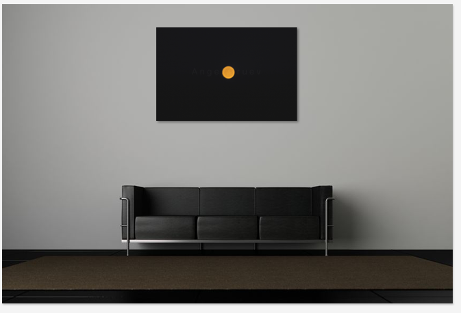 Interior decor with picture,Art,print photography