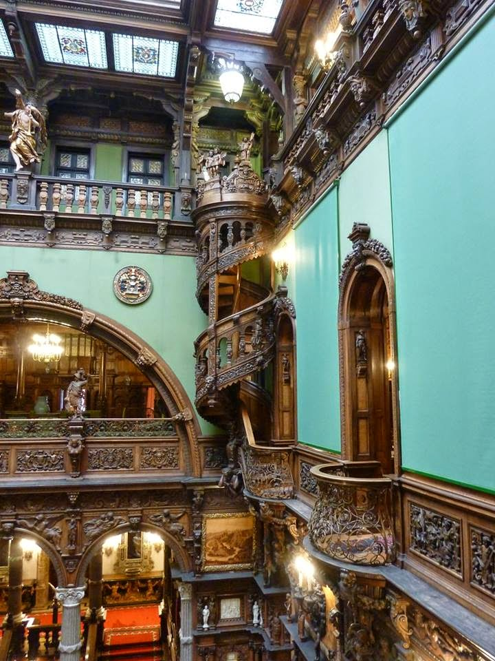 Only Pictures Beautiful Spiral Staircase In Peles Castle
