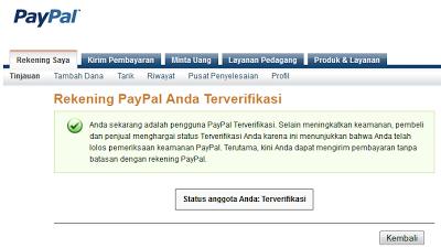 Cara Verifikasi Paypal dengan VCC